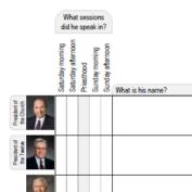 General conference notes worksheet