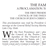 Scripture page insert: The family proclamation