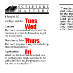 Scripture Mastery: Daily class reciting