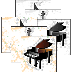 music practice charts combination color greyscale