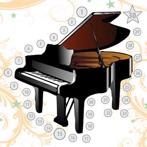 music practice chart piano