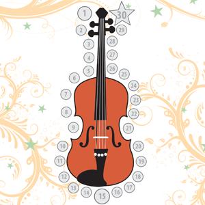 music practice chart violin