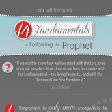 Fourteen fundamentals in following the prophet: Games and worksheets