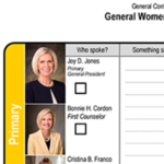 General conference women's session notes worksheet
