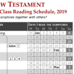 """Come Follow Me"" Reading Schedule: New Testament (2019)"