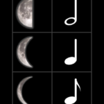 Moonsical notation: Music theory meets astronomy