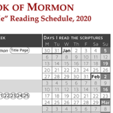 """Come Follow Me"" Reading Schedule: Book of Mormon (2020)"