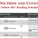 Come Follow Me reading schedule: Doctrine and Covenants (2021)